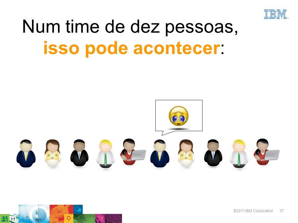 37©2011 IBM Corporation Num time de dez pessoas, isso pode acontecer: