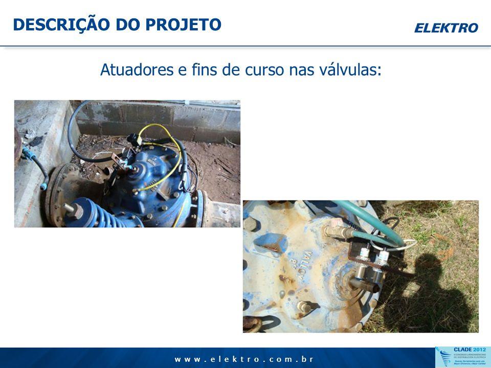 www.elektro.com.br DESCRIÇÃO DO PROJETO www.elektro.com.br Painéis de controle com CLP´s: