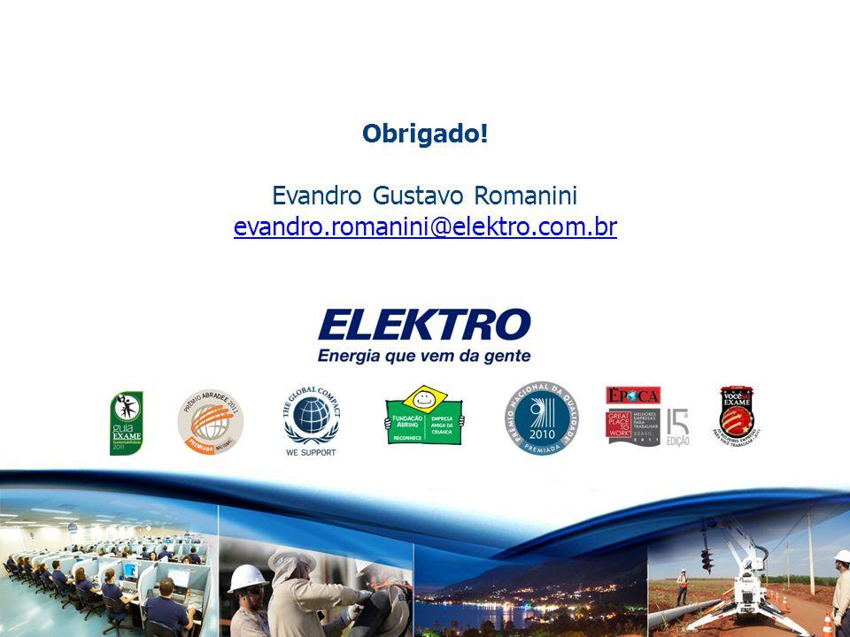 www.elektro.com.br APURAÇÃO DAS ECONOMIAS RESULTADOSOBTIDOS Redu ç ão de Demanda na Ponta [kW]613,00 Redu ç ão de Consumo [MWh/ano]0,00 Investimento [