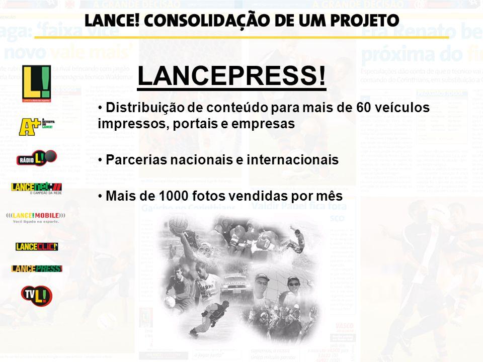 Distribuição de conteúdo para mais de 60 veículos impressos, portais e empresas Parcerias nacionais e internacionais Mais de 1000 fotos vendidas por m