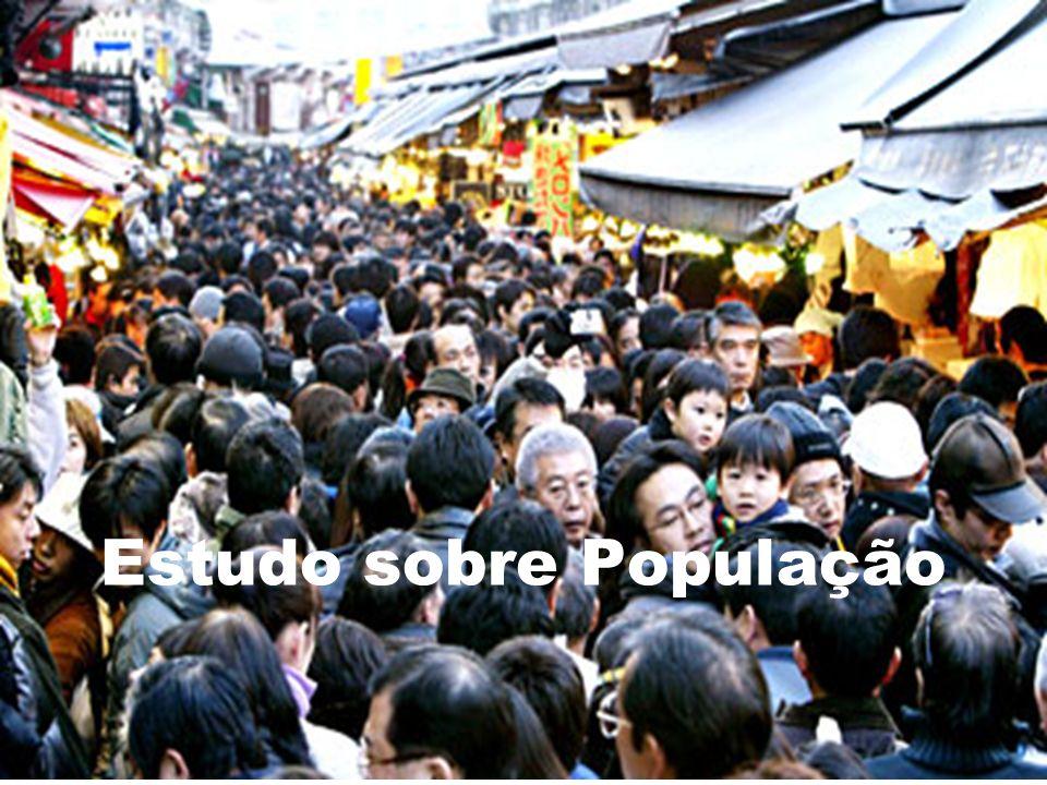 Conceitos principais População Absoluta : Total de população contabilizada em um país (hab).