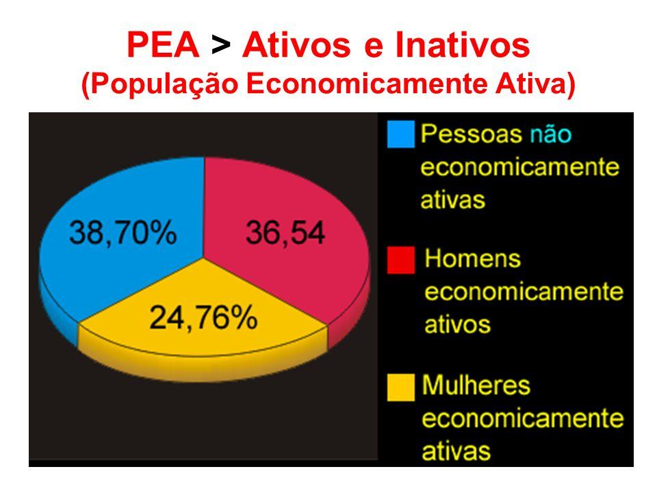 PEA > Ativos e Inativos (População Economicamente Ativa)