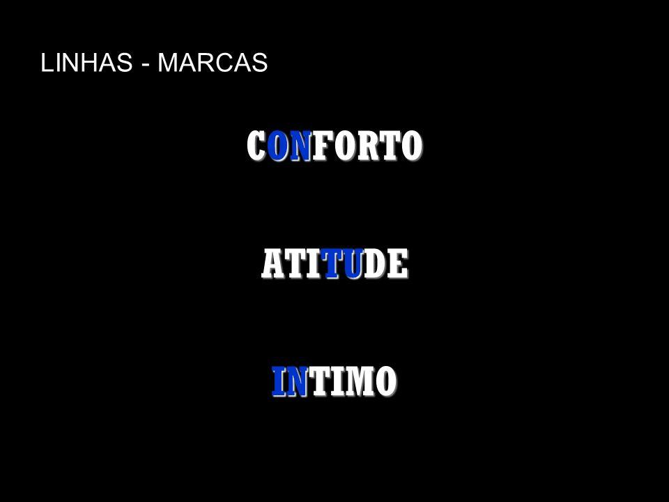LINHAS - MARCAS CONFORTO ATITUDE INTIMO