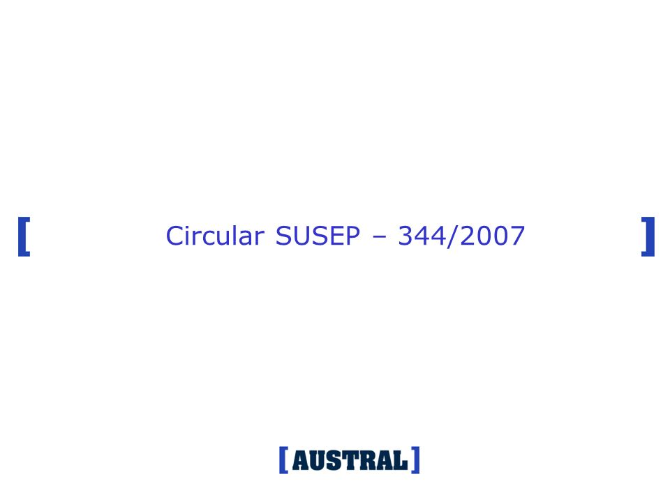 Circular SUSEP – 344/2007