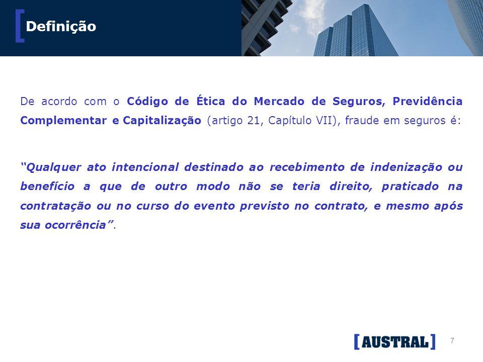7 [ De acordo com o Código de Ética do Mercado de Seguros, Previdência Complementar e Capitalização (artigo 21, Capítulo VII), fraude em seguros é: Qu