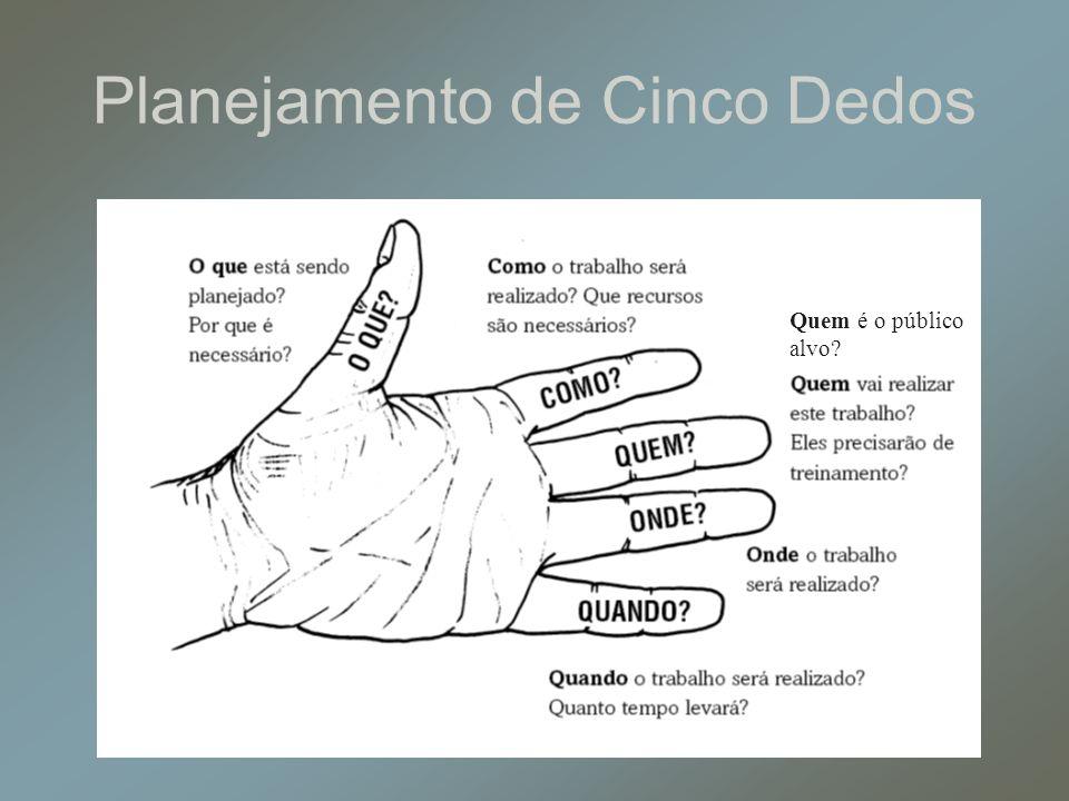 Planejamento de Cinco Dedos Quem é o público alvo