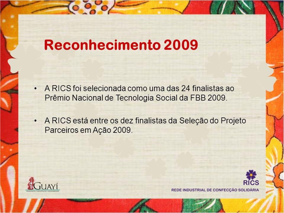 Reconhecimento 2009 A RICS foi selecionada como uma das 24 finalistas ao Prêmio Nacional de Tecnologia Social da FBB 2009. A RICS está entre os dez fi