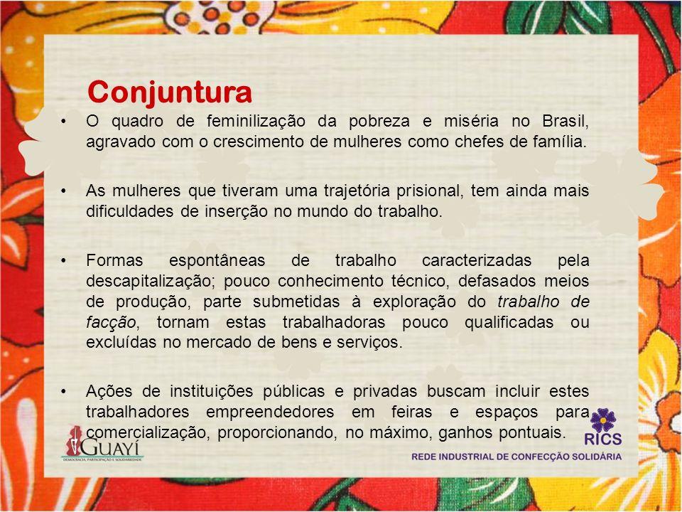 Conjuntura O quadro de feminilização da pobreza e miséria no Brasil, agravado com o crescimento de mulheres como chefes de família. As mulheres que ti