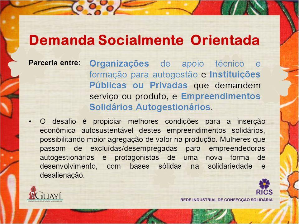 Projeto RICS Uma parceria entre GHC, a Guayí e trabalhadores da ES, que resultou na Rede Industrial de Confecção Solidária (RICS), através da produção da roupas hospitalares utilizadas nos hospitais do grupo.
