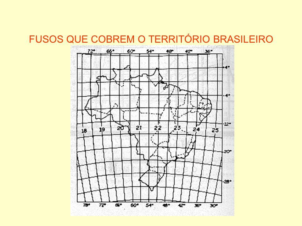 FUSOS QUE COBREM O TERRITÓRIO BRASILEIRO