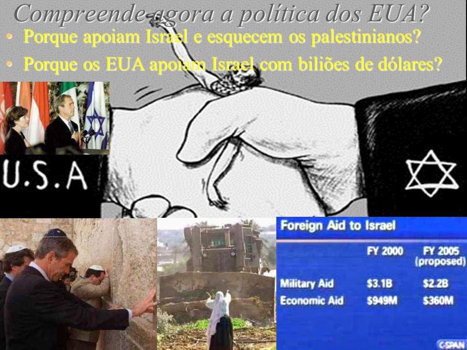 Os sionistas admitem que controlam os EUA. O próprio Ariel Sharon disse-o: Nós controlamos o Congresso norte- americano.