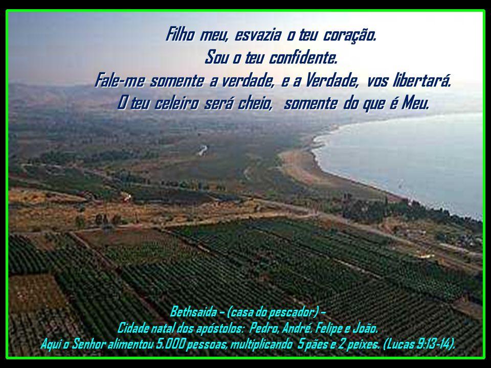 Mar da Galiléia Olhando do Monte do Sermão da Montanha. Gosto quando você me conta os teus feitos. Fale igual a criança, em sua simplicidade... Conte-