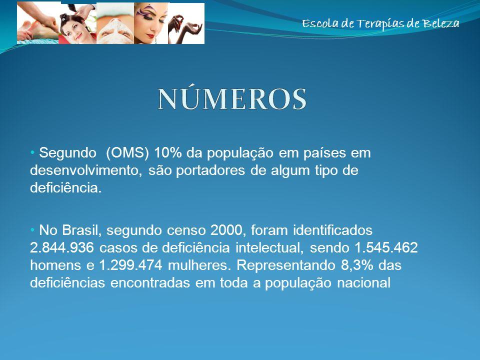 Escola de Terapias de Beleza Segundo (OMS) 10% da população em países em desenvolvimento, são portadores de algum tipo de deficiência. No Brasil, segu