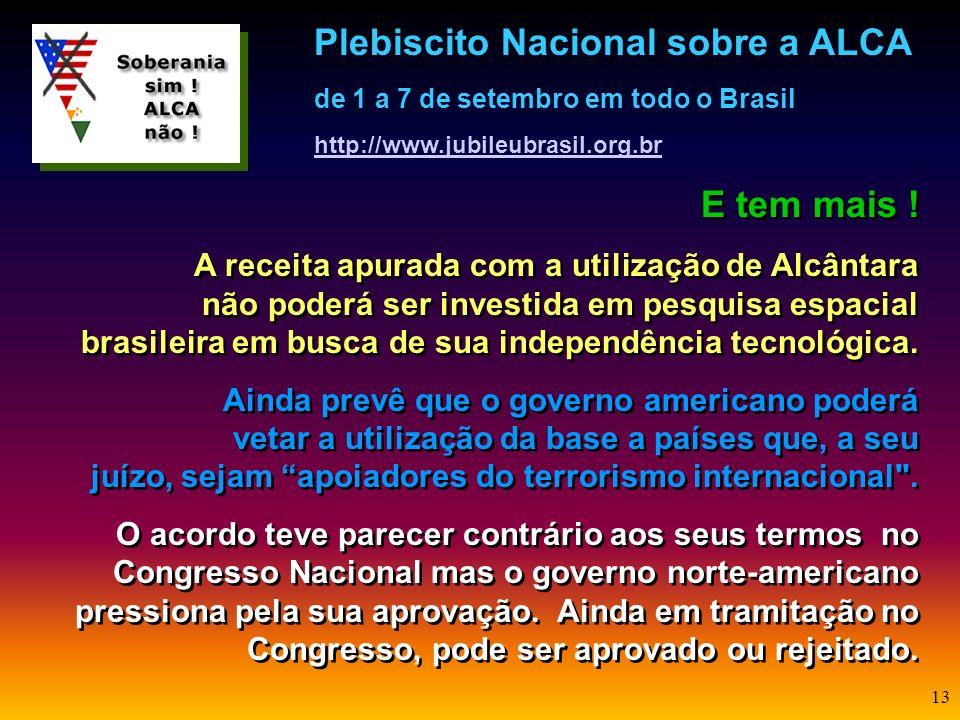 12 E o que diz o acordo de Alcântara ? O acordo prevê que o governo brasileiro mantenha áreas restritas, onde apenas pessoas autorizadas pelo governo