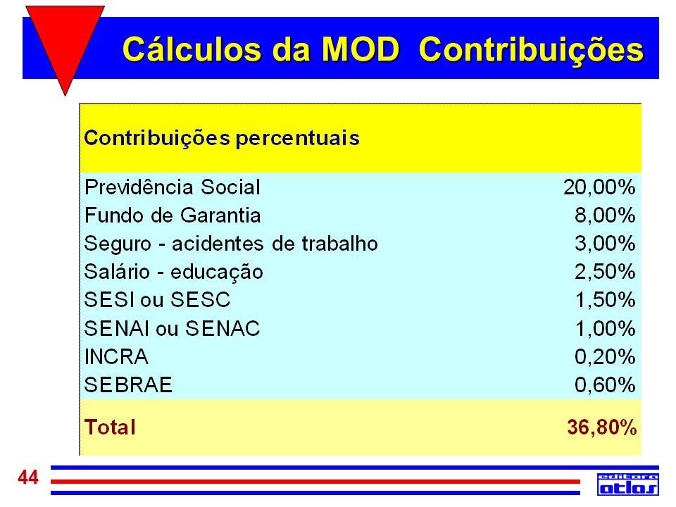 44 Cálculos da MOD Contribuições