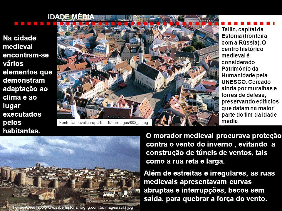 Na cidade medieval encontram-se vários elementos que demonstram adaptação ao clima e ao lugar executados pelos habitantes. Além de estreitas e irregul