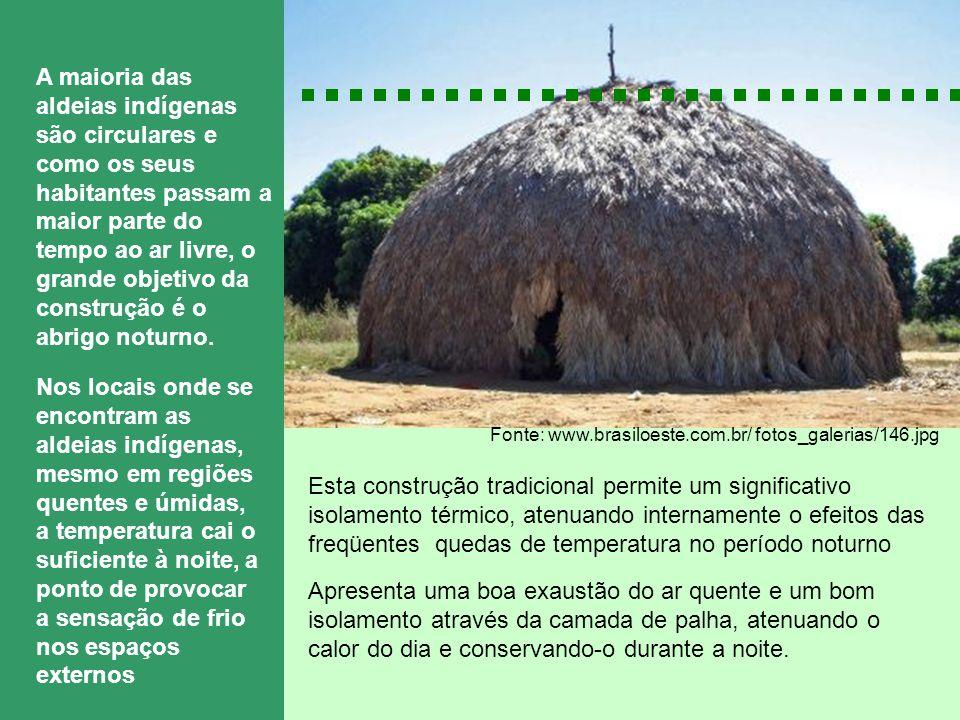 Fonte: www.brasiloeste.com.br/ fotos_galerias/146.jpg A maioria das aldeias indígenas são circulares e como os seus habitantes passam a maior parte do