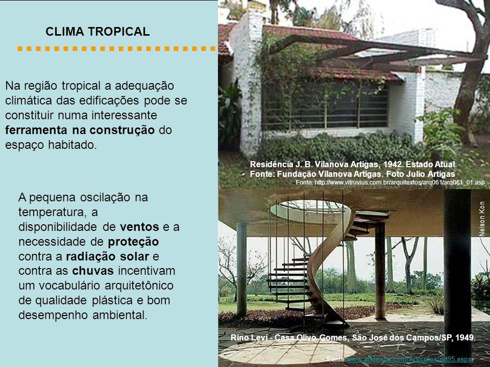 A pequena oscilação na temperatura, a disponibilidade de ventos e a necessidade de proteção contra a radiação solar e contra as chuvas incentivam um v