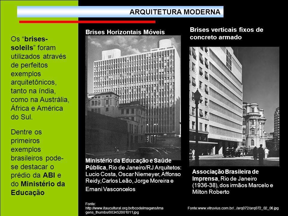 Ministério da Educação e Saúde Pública, Rio de Janeiro/RJ Arquitetos: Lucio Costa, Oscar Niemeyer, Affonso Reidy,Carlos Leão, Jorge Moreira e Ernani V