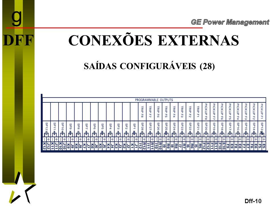 10 DFF CONEXÕES EXTERNAS SAÍDAS CONFIGURÁVEIS (28) Dff-10 g