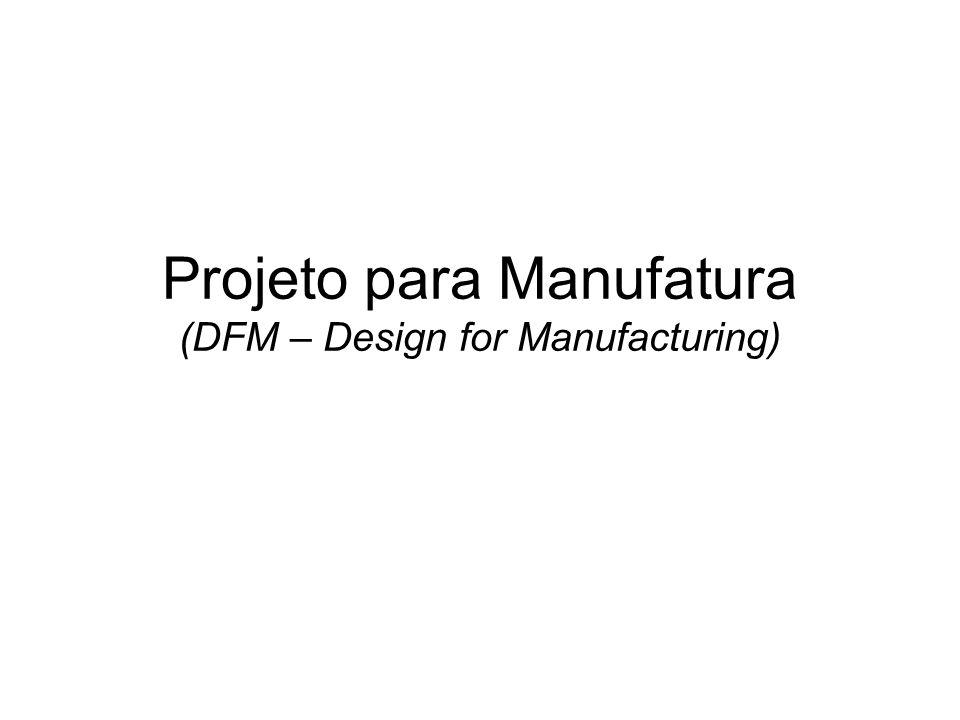 PPM: Projeto do produto considerando os processos de fabricação; Objetivos: Facilidade de produção e redução de custos; Importância do PPM: 70% dos custos de um produto (custo de materiais, processamento e montagem) são definidos na etapa do projeto.