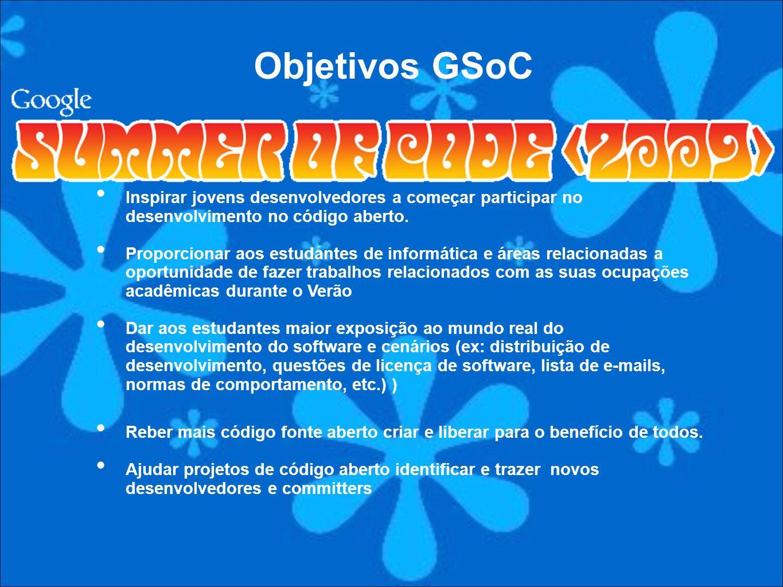 Inspirar jovens desenvolvedores a começar participar no desenvolvimento no código aberto. Proporcionar aos estudantes de informática e áreas relaciona