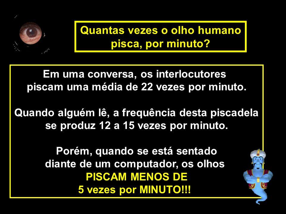 Em uma conversa, os interlocutores piscam uma média de 22 vezes por minuto. Quando alguém lê, a frequência desta piscadela se produz 12 a 15 vezes por