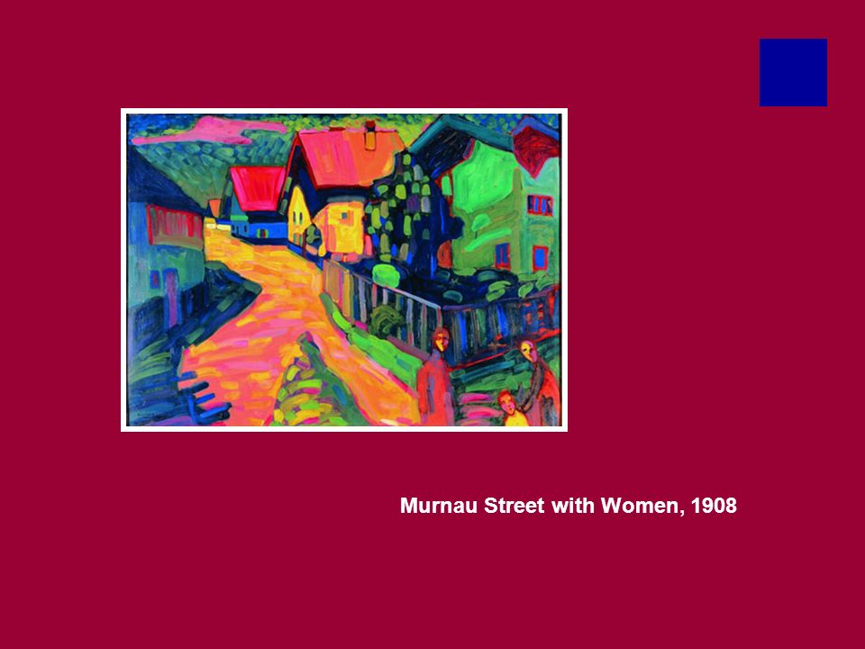 Murnau Street with Women, 1908
