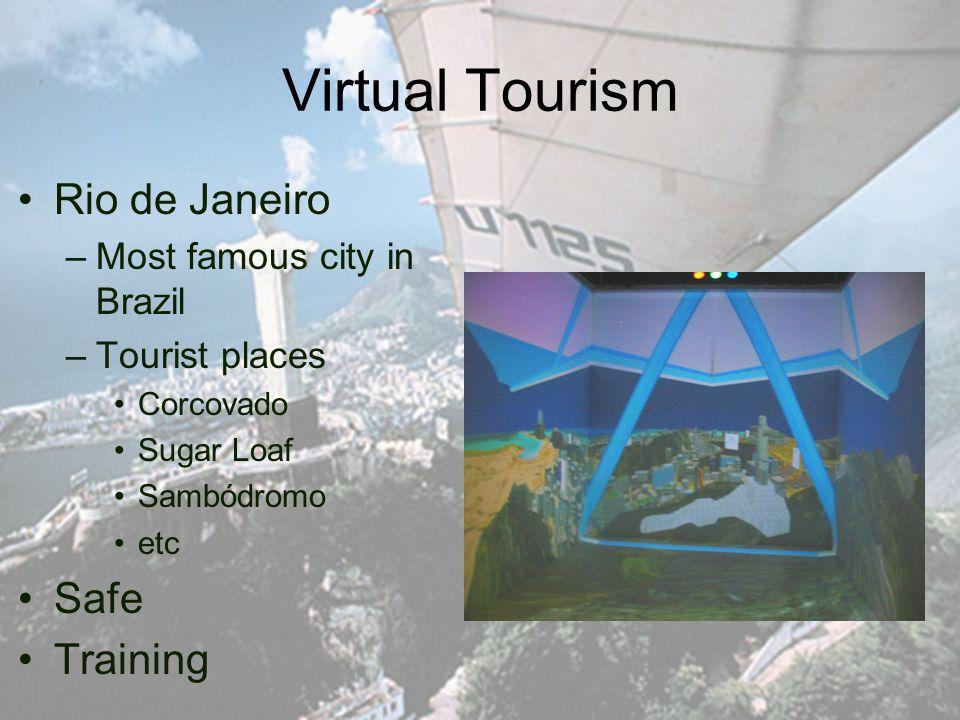 Virtual Tourism Rio de Janeiro –Most famous city in Brazil –Tourist places Corcovado Sugar Loaf Sambódromo etc Safe Training