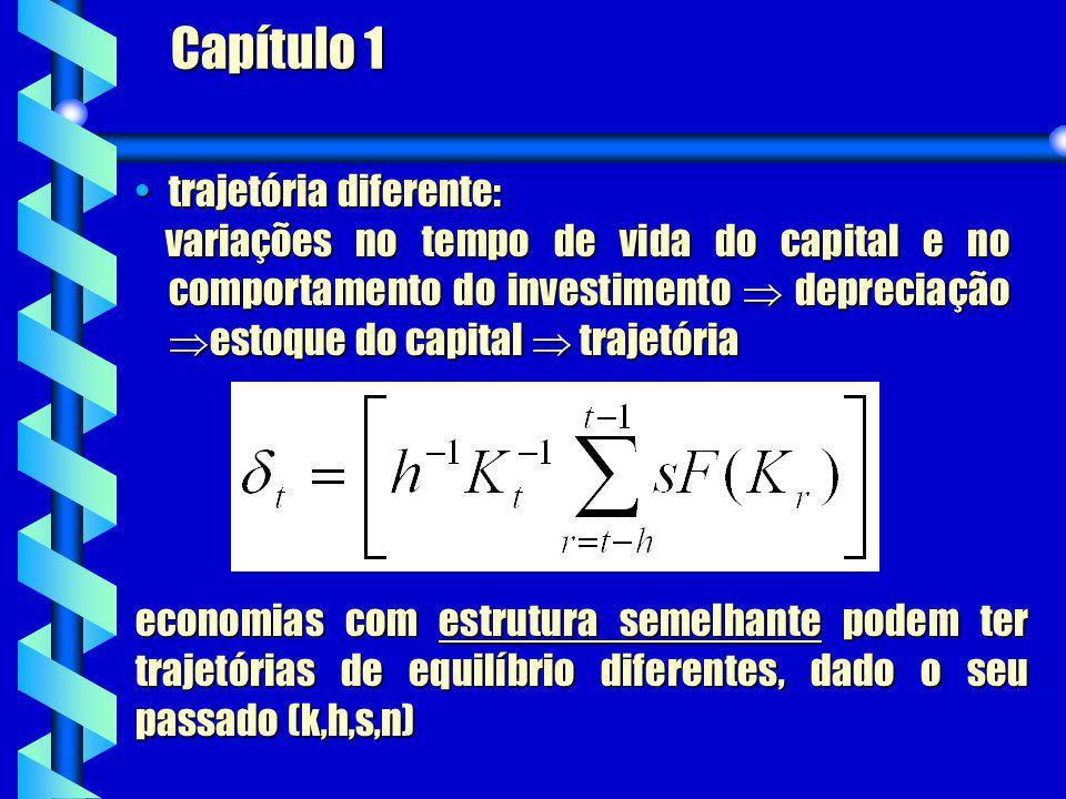 Capítulo 1 trajetória diferente:trajetória diferente: variações no tempo de vida do capital e no comportamento do investimento depreciação estoque do