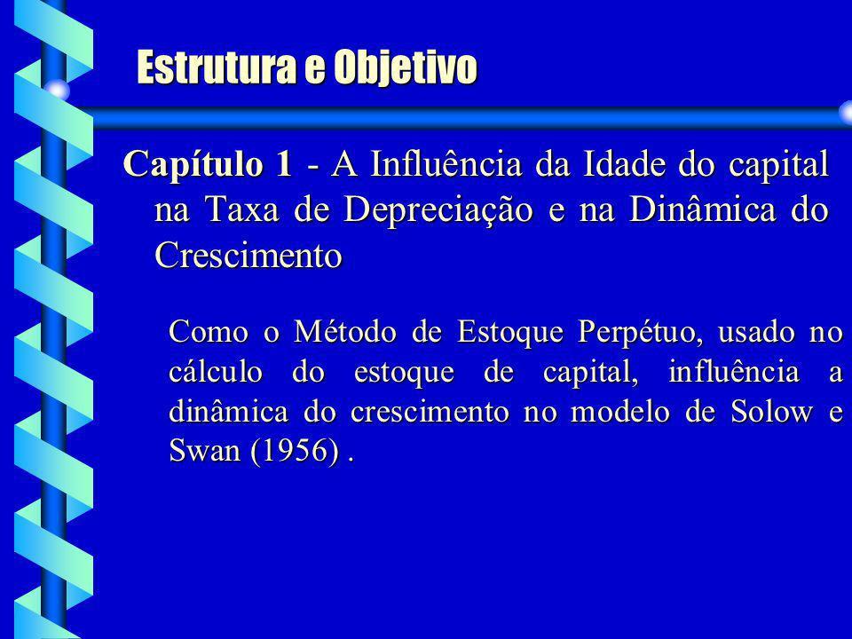Estrutura e Objetivo Capítulo 1 - A Influência da Idade do capital na Taxa de Depreciação e na Dinâmica do Crescimento Como o Método de Estoque Perpét