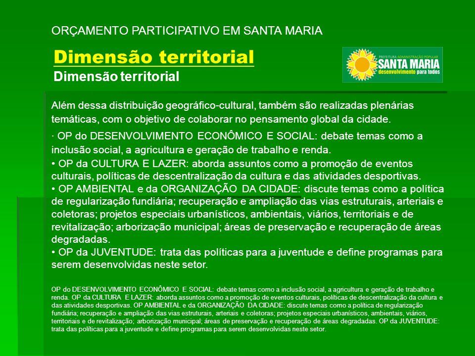 Além dessa distribuição geográfico-cultural, também são realizadas plenárias temáticas, com o objetivo de colaborar no pensamento global da cidade. ·