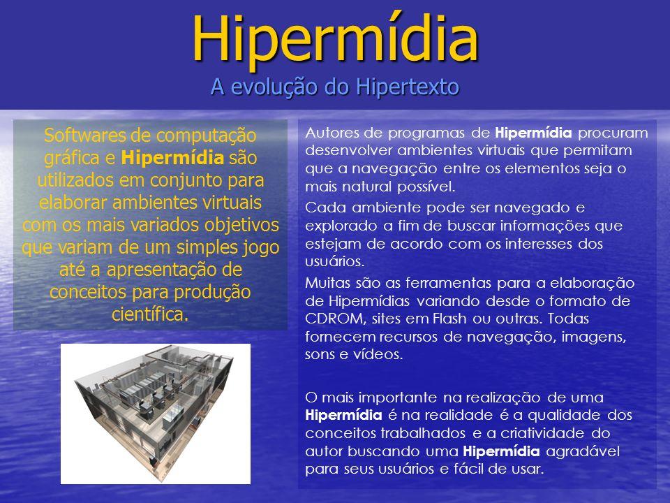 Autores de programas de Hipermídia procuram desenvolver ambientes virtuais que permitam que a navegação entre os elementos seja o mais natural possíve