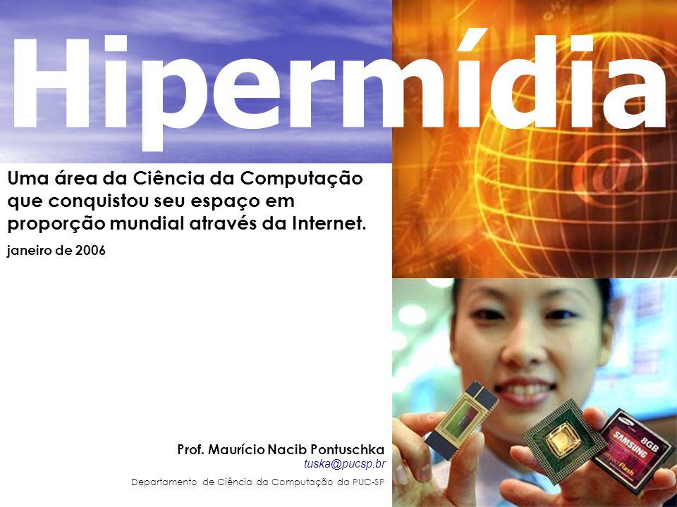 Uma área da Ciência da Computação que conquistou seu espaço em proporção mundial através da Internet. janeiro de 2006 Prof. Maurício Nacib Pontuschka