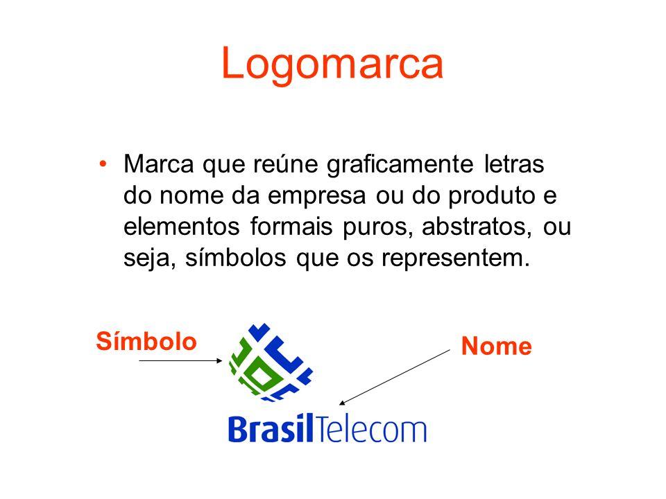 Logomarca Marca que reúne graficamente letras do nome da empresa ou do produto e elementos formais puros, abstratos, ou seja, símbolos que os represen