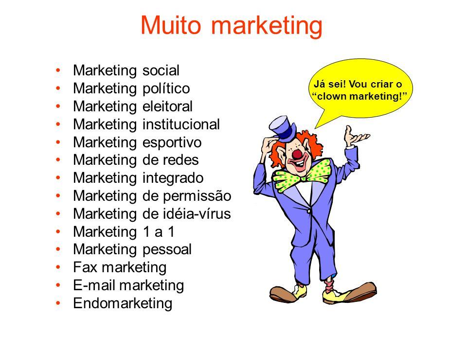 Muito marketing Marketing social Marketing político Marketing eleitoral Marketing institucional Marketing esportivo Marketing de redes Marketing integ