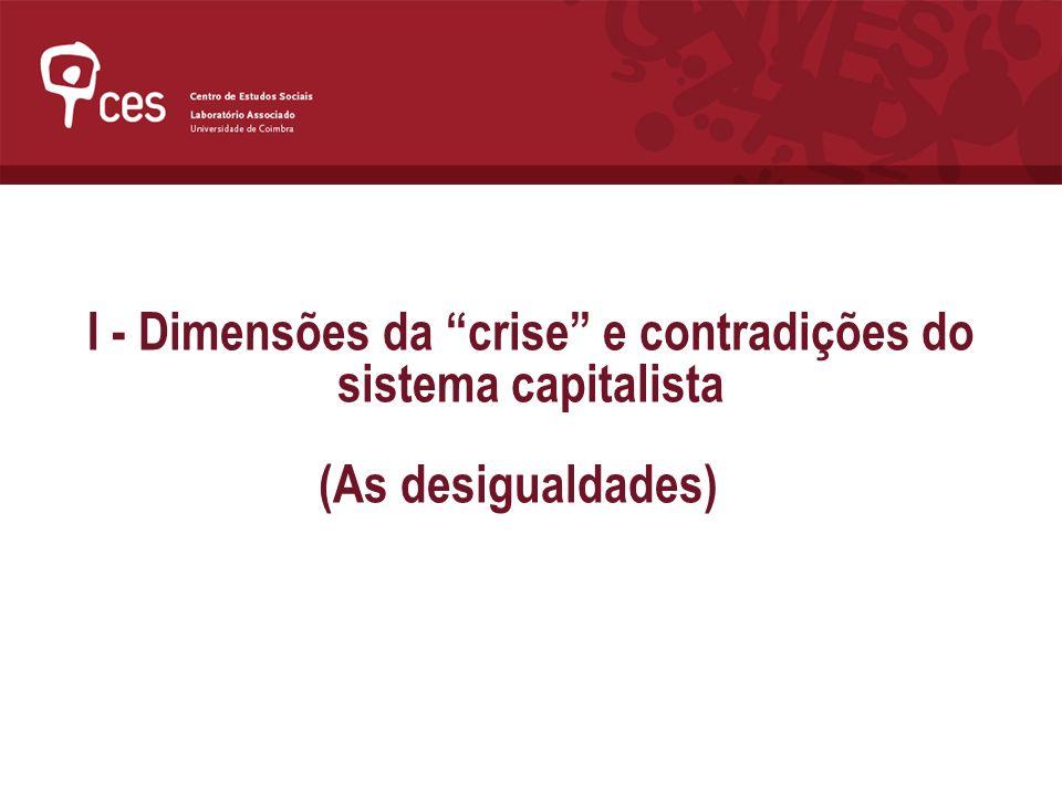 I - Dimensões da crise e contradições do sistema capitalista (As desigualdades)