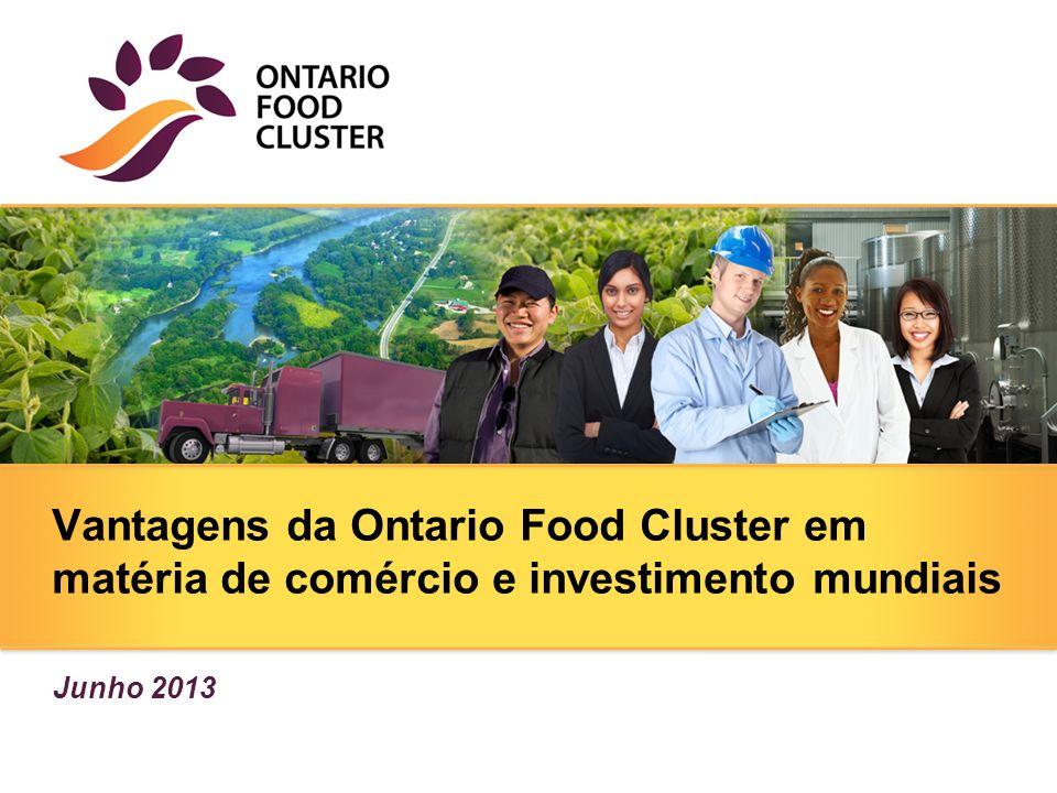 Vantagens da Ontario Food Cluster em matéria de comércio e investimento mundiais Junho 2013