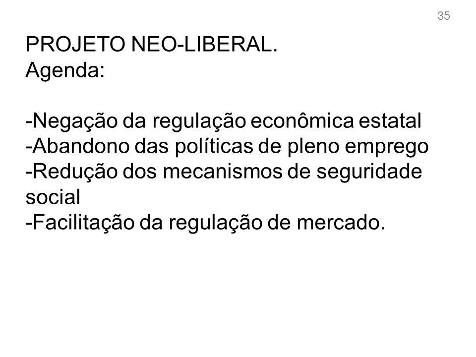 PROJETO NEO-LIBERAL.