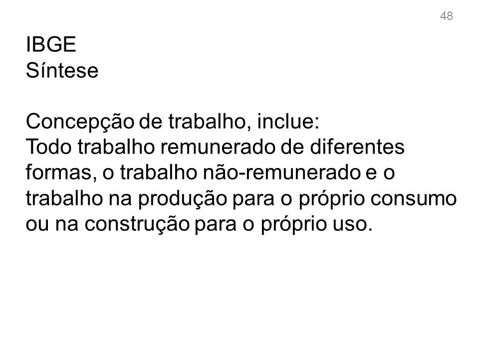 IBGE Tendências do trabalho no Brasil 1.Urbanização e terceirização da economia.