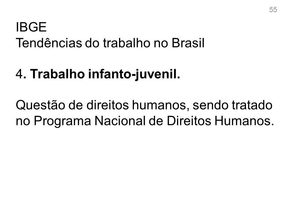 IBGE Tendências do trabalho no Brasil 4.Trabalho infanto-juvenil.