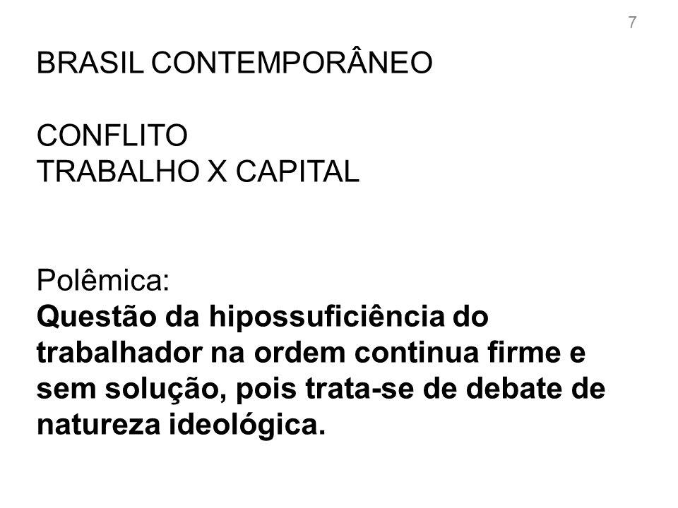 BRASIL CONTEMPORÂNEO PONTOS DE VISTA : CONTRA Hipossuficiência trabalhista não existe mais.