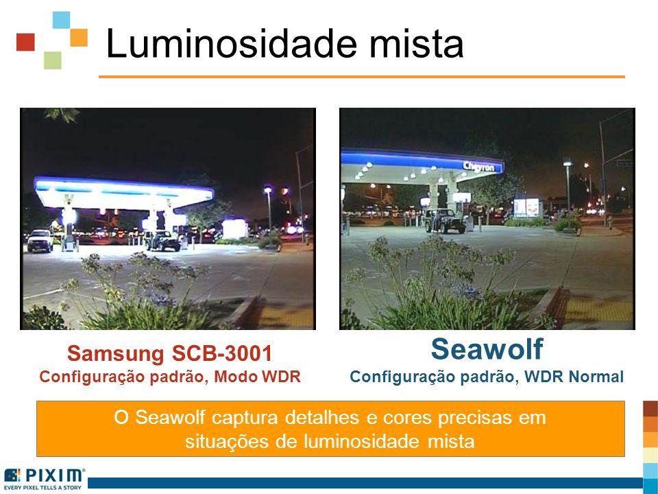 Luminosidade mista O Seawolf captura detalhes e cores precisas em situações de luminosidade mista Samsung SCB-3001 Configuração padrão, Modo WDR Seawo