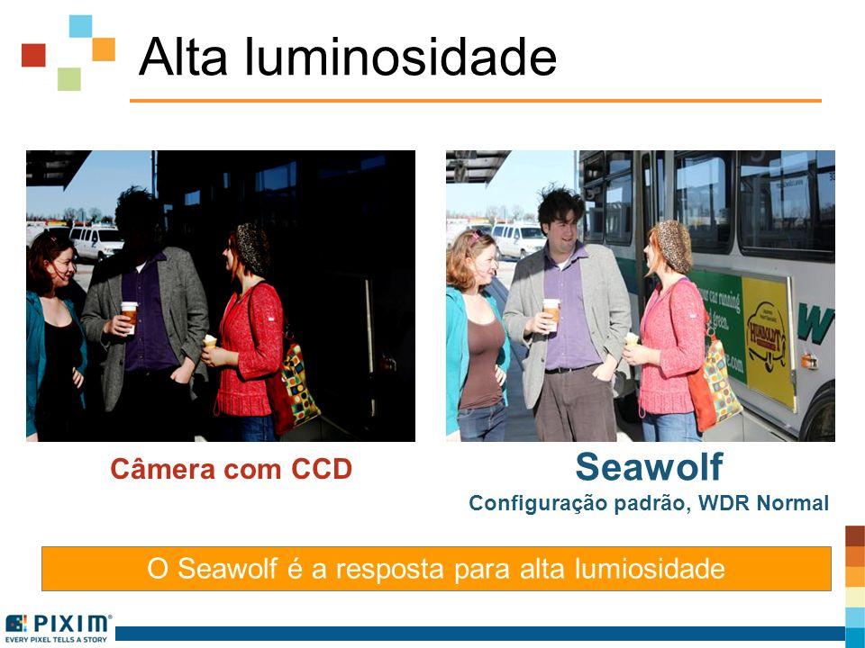 Alta luminosidade O Seawolf é a resposta para alta lumiosidade Câmera com CCD Seawolf Configuração padrão, WDR Normal