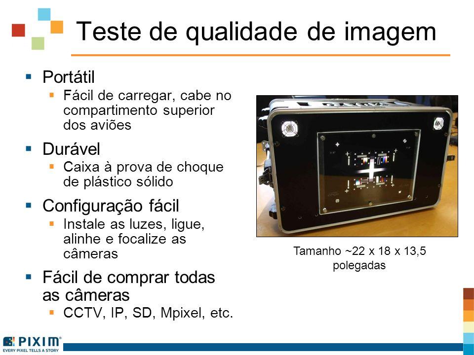 Teste de qualidade de imagem Portátil Fácil de carregar, cabe no compartimento superior dos aviões Durável Caixa à prova de choque de plástico sólido