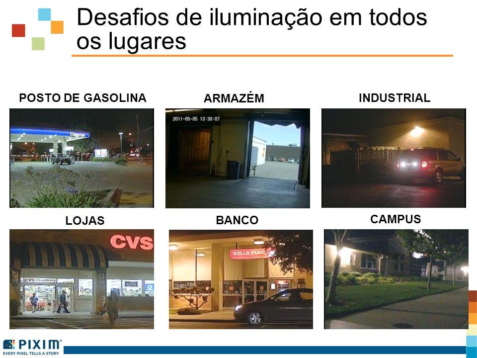 Desafios de iluminação em todos os lugares POSTO DE GASOLINA INDUSTRIAL BANCO LOJAS ARMAZÉM CAMPUS