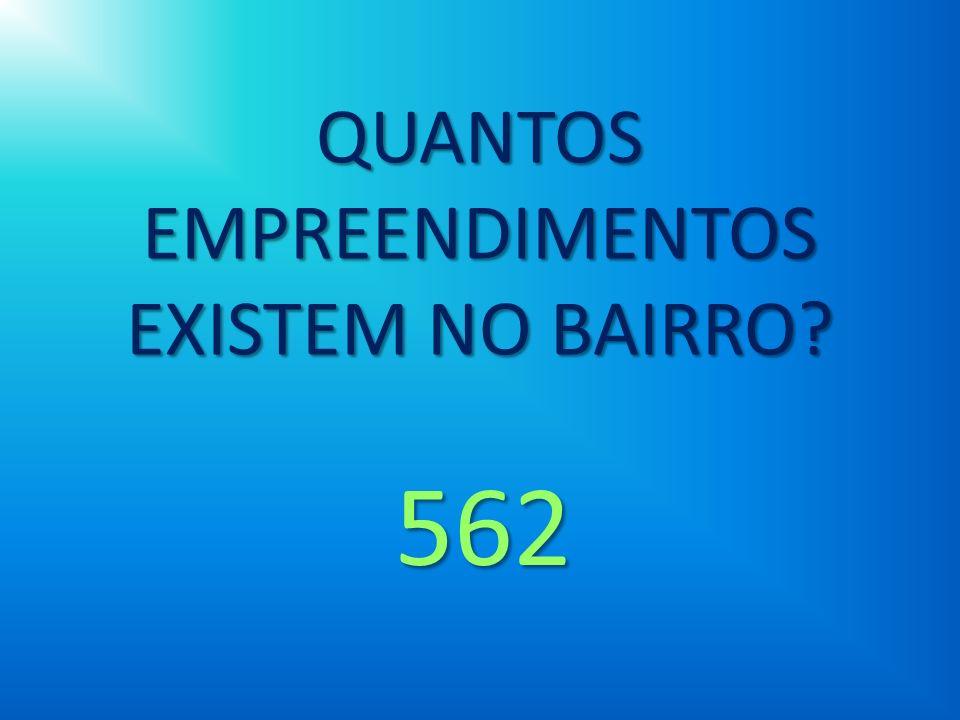 QUANTOS EMPREENDIMENTOS EXISTEM NO BAIRRO? 562