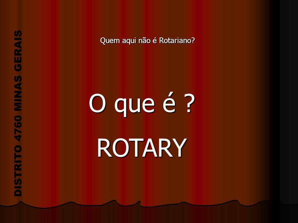 O que é ? ROTARY ROTARY Quem aqui não é Rotariano?
