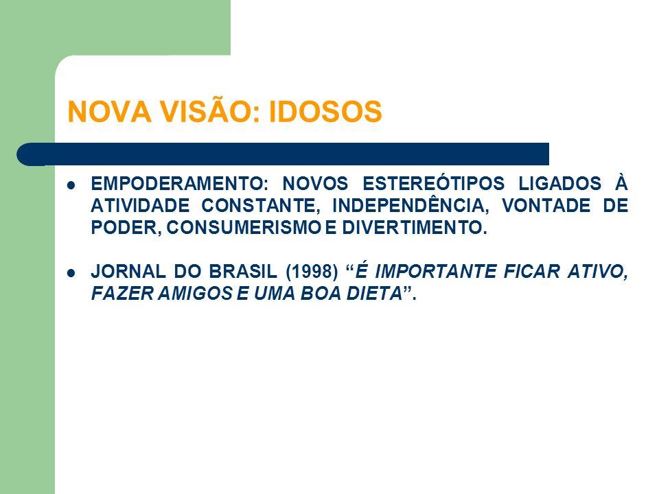 EMPODERAMENTO: NOVOS ESTEREÓTIPOS LIGADOS À ATIVIDADE CONSTANTE, INDEPENDÊNCIA, VONTADE DE PODER, CONSUMERISMO E DIVERTIMENTO. JORNAL DO BRASIL (1998)