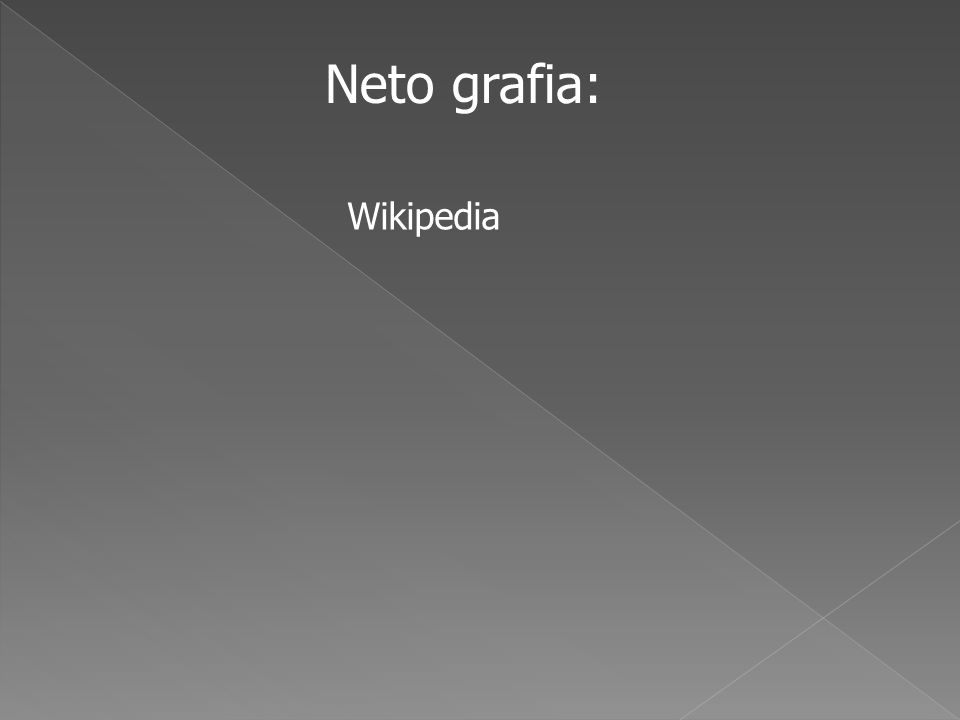 Neto grafia: Wikipedia